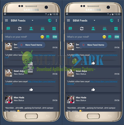 BBM Mod Kryptonite Theme Apk by Ryan Chou