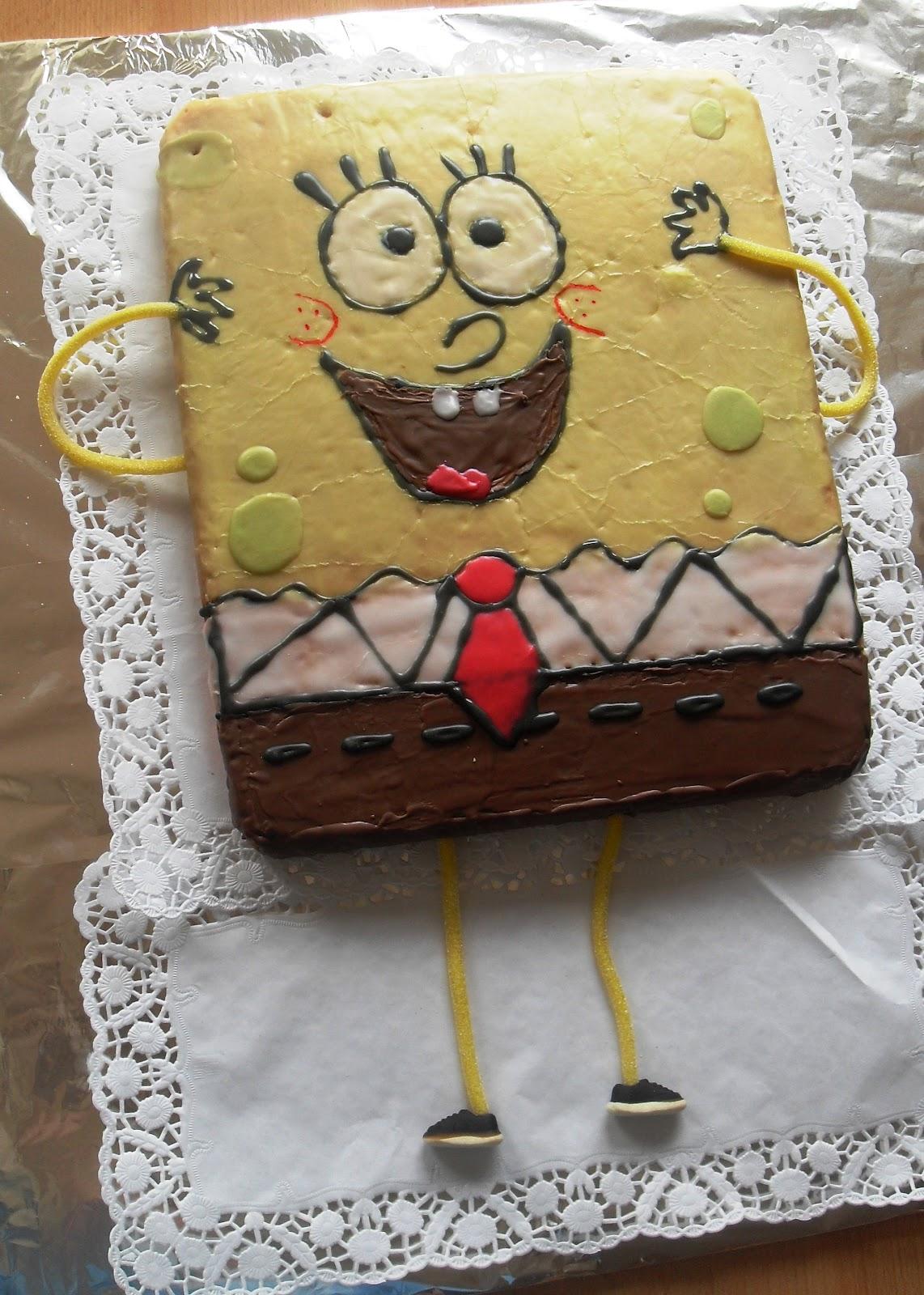 Sanna S Hexenkuche Spongebob Kuchen Zum Kindergeburtstag