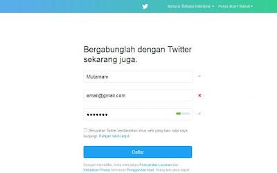 Membuat Akun Twitter Baru