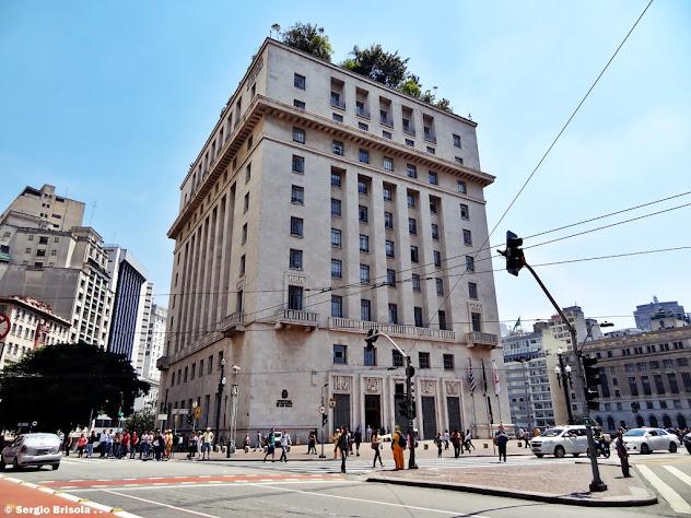 Fachada e lateral do Edifício Matarazzo - Prefeitura de São Paulo - Centro