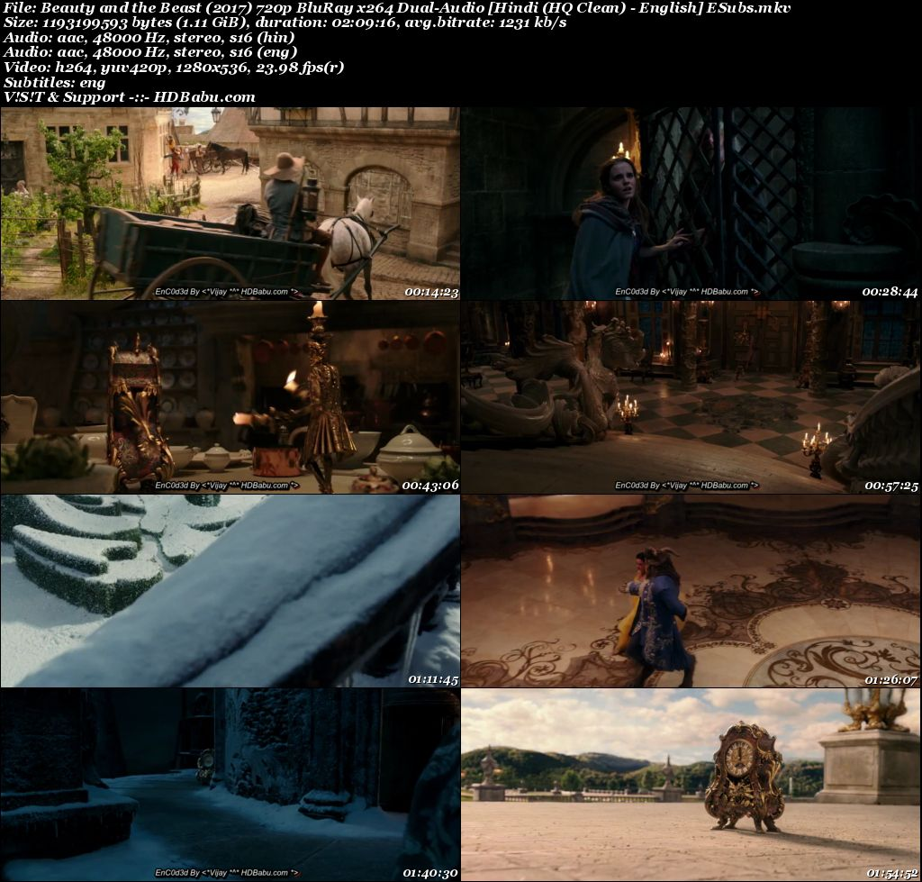 Beauty and the Beast Hindi Dual Audio Full Movie Download
