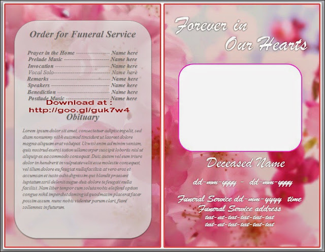 Obituary Template For Microsoft Word Free Download Orchid Theme