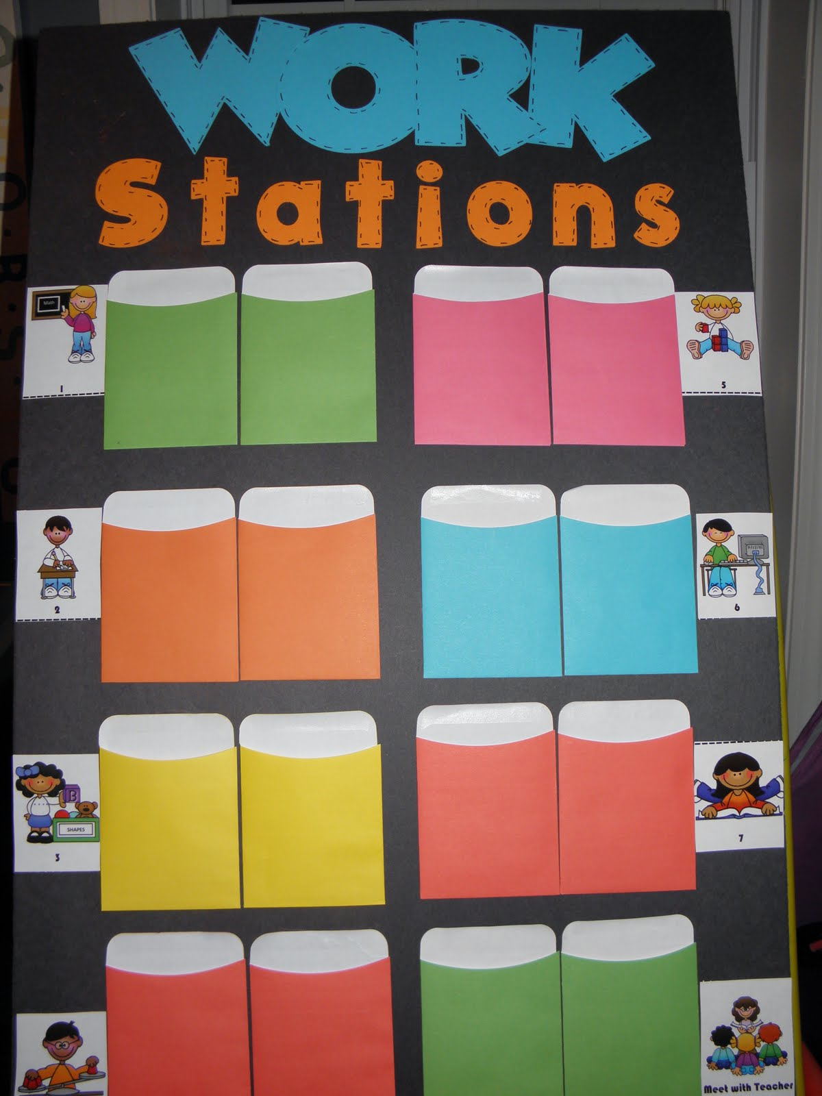 Kindergarten Night Owls Work Station Chart And Beginning