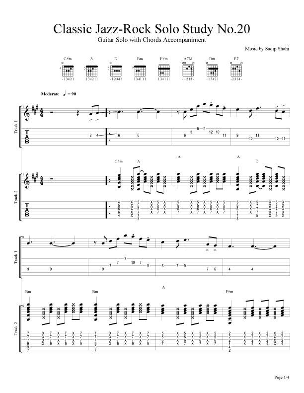 Classic Jazz-Rock Guitar Compositions of Sadip Shahi: Classic Jazz ...