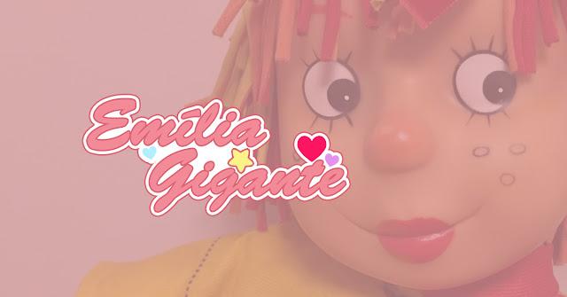 Post sobre boneca Emília gigante da Baby Brink