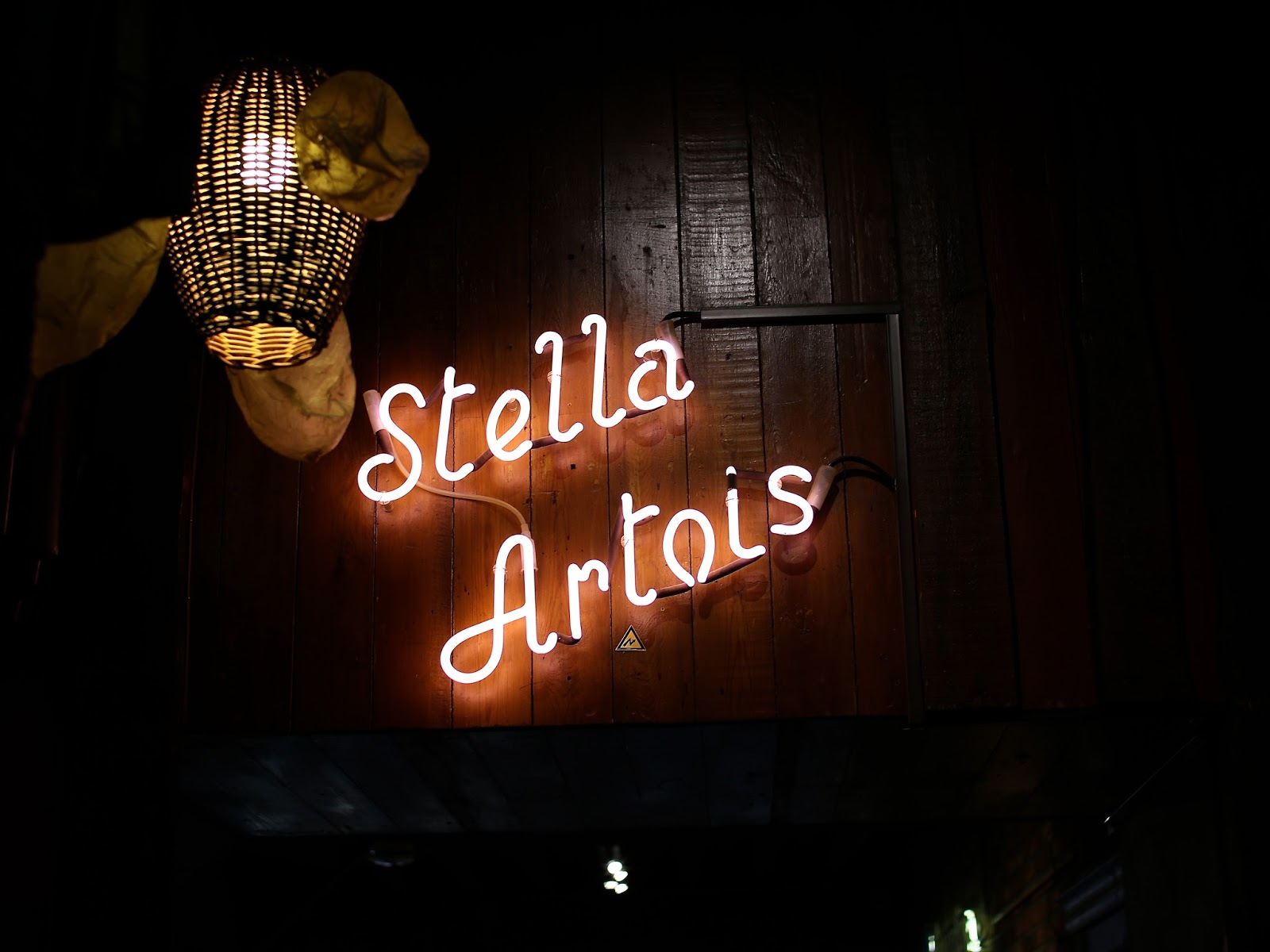 stella Artois light up sign in europe