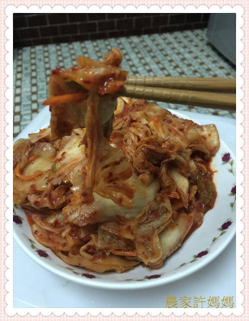 新鮮原料製作而成的韓式泡菜 就是 農家許媽媽