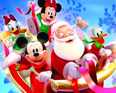 Mickey-Mouse-Santa_-Christmas-wallpaper_for Mac Os
