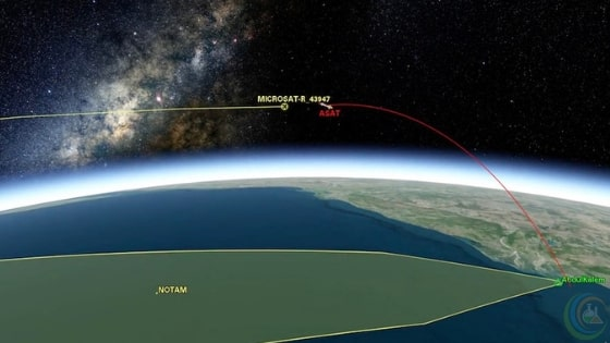 Indian Anti-Satellite test-debris tracked by AGI