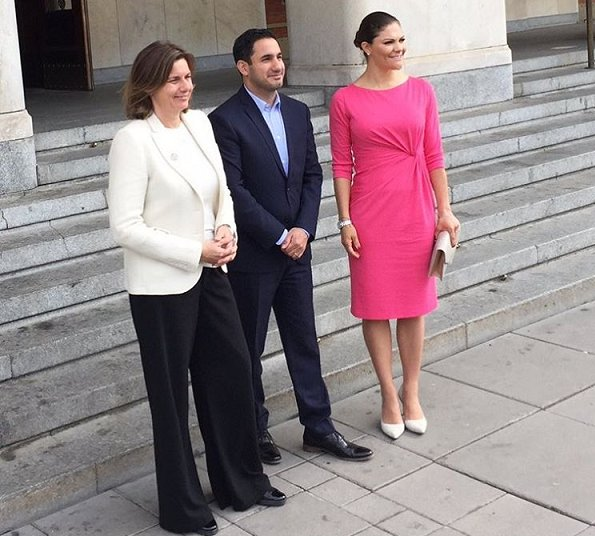Crown Princess Victoria wore By Malene Birger pumps and carried By Malene Birger Koonia Clutch bag