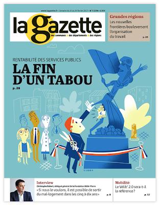 Clod illustration couverture de la Gazette des Communes du 20 février 2017