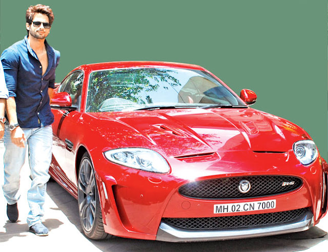 Shahid Kapoor's car with his lucky number 700