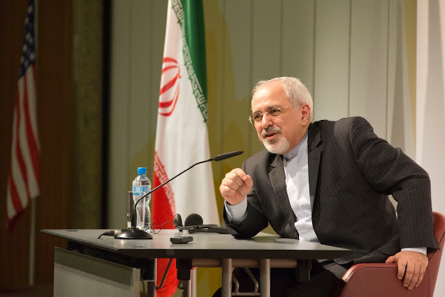 File Photo: Iranian Foreign Minister Mohammad Javad Zarif speaking to Media /  Source: Wikimedia Commons