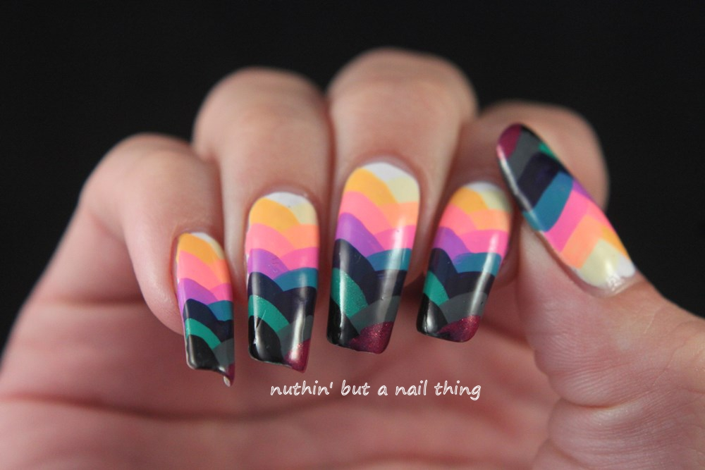 fishtail manicure nail art design idea