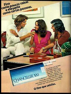 propaganda de cigarros chanceller de 1979. propaganda anos 70; história decada de 70; reclame anos 70; propaganda cigarros anos 70; Brazil in the 70s; Oswaldo Hernandez;