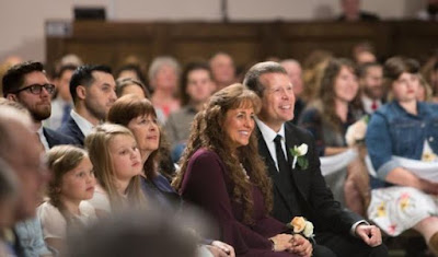 Jim Bob and Michelle Duggar at John Duggar's wedding