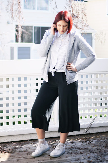 Culottes, fashion inspiration, red hair, fashion blogger, bay area blogger