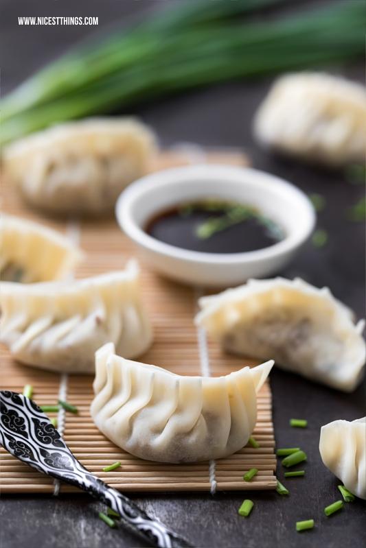 Gyoza, Jiaozi, Dim Sum, Dumplings falten Rezept Hackfleisch Füllung