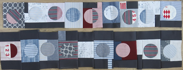 Quilty 365 project - Two rows completed
