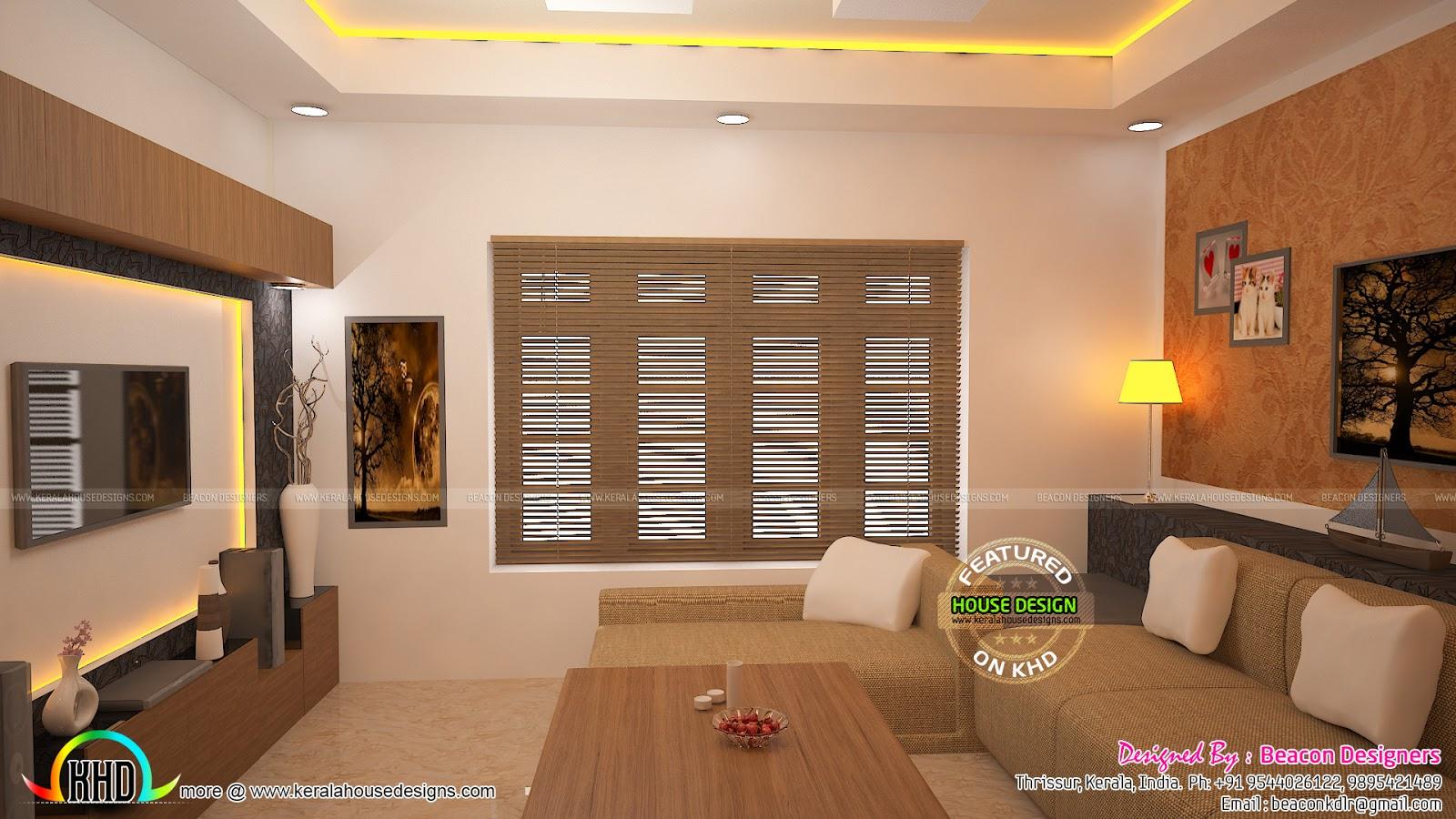 Interiors Designs Of Living Bedroom
