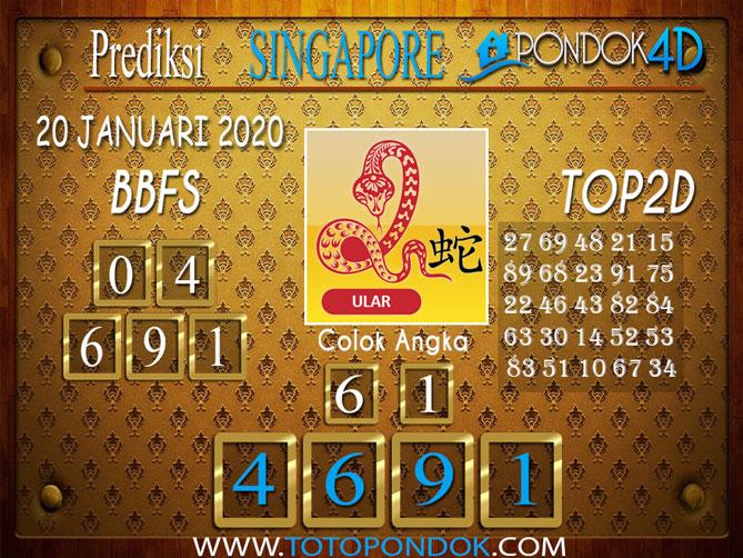 Prediksi Togel SINGAPORE PONDOK4D 20 JANUARI 2020