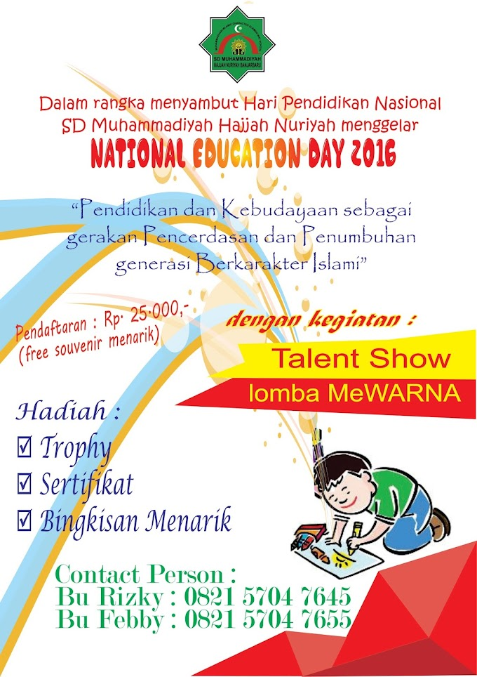 """Talent Show """"Education Day 2016"""""""