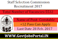 5500+ Male and Female Constables Recrutiment under Police Department 2017