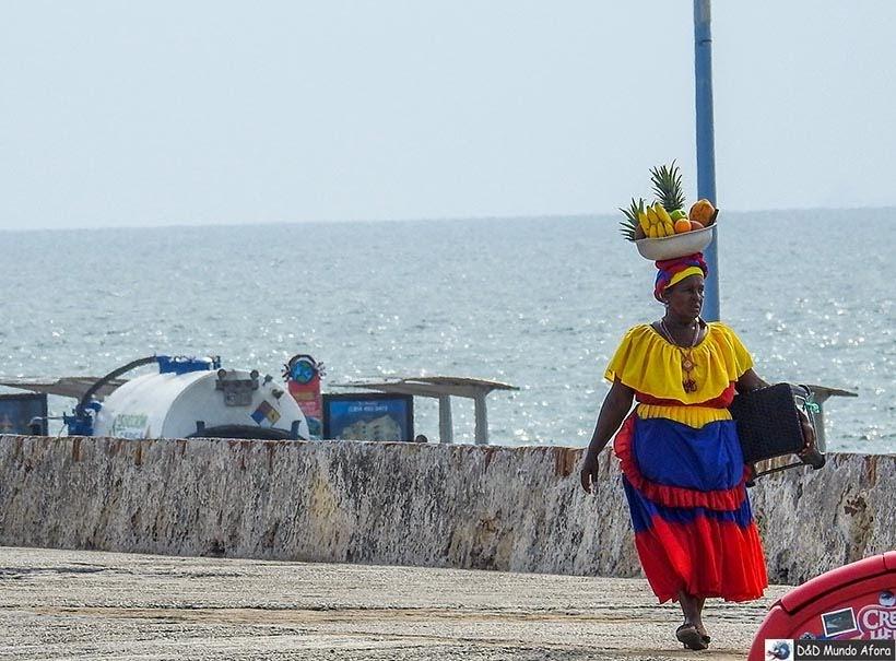 Palenqueras de Cartagena - Diário de bordo: 4 dias em Cartagena, Colômbia