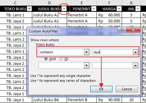 Autofilter Data Pada Excel 8