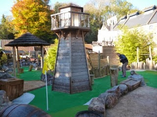 Adventure Golf at Wookey Hole last November