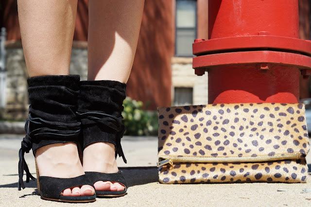 leopard romper chicago fashion blogger