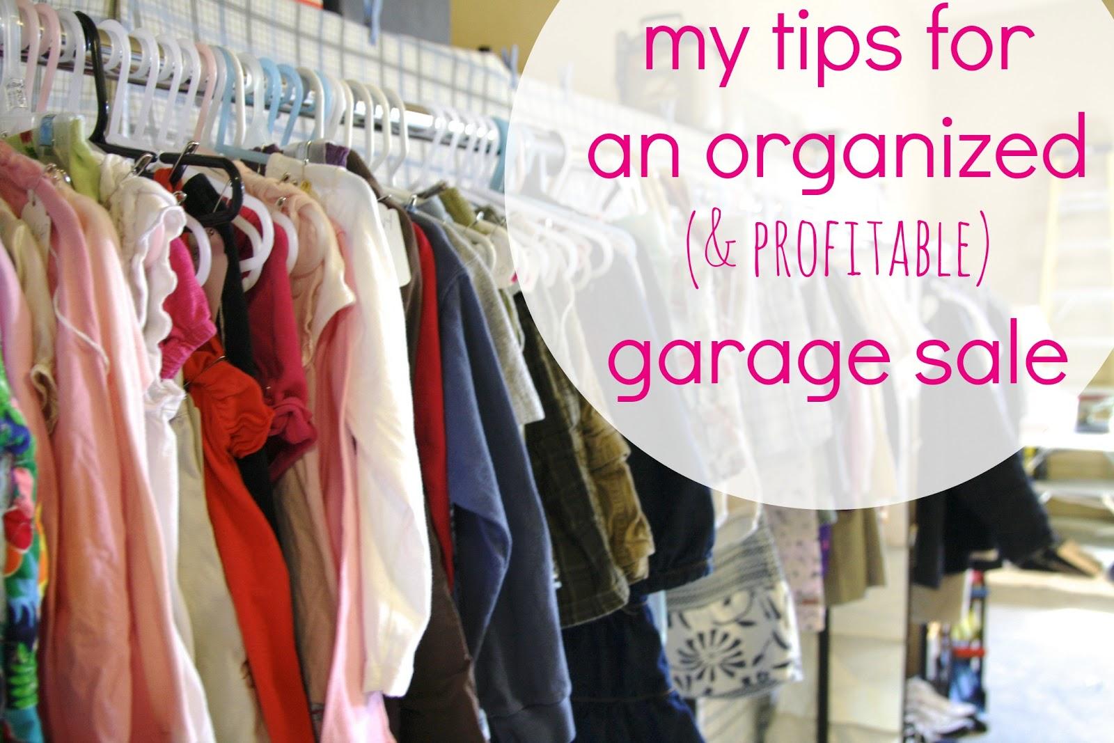 An Organized Garage Sale Simply Organized