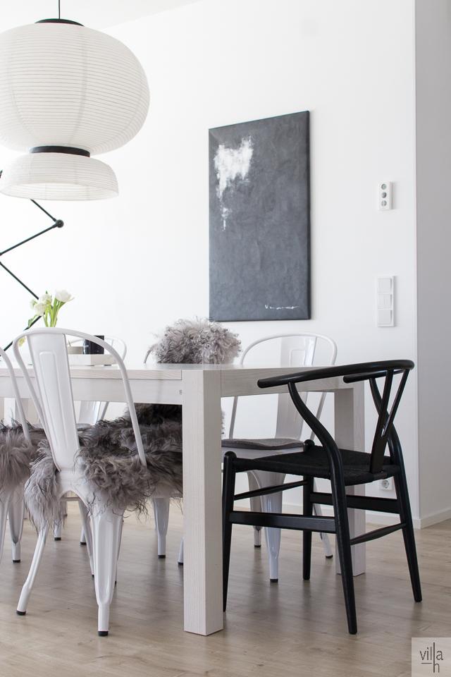 y-tuoli, wishbone, interior, sisustus, ruokailutila