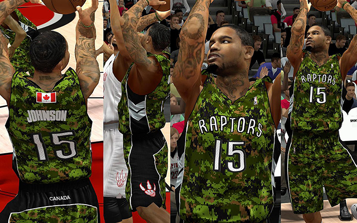 c2c1e7354f9 NBA 2K13 Toronto Raptors Military Night Jersey Patch