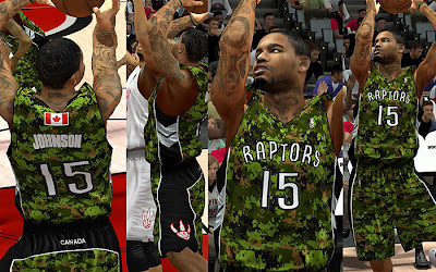 NBA 2K13 Toronto Raptors Military Night Jersey Patch