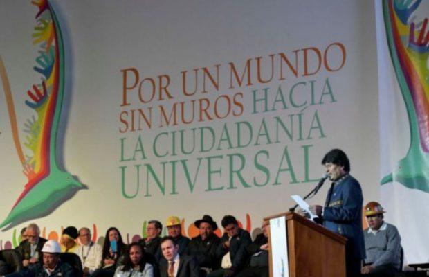 Bolivia: Evo Morales brilló por todo lo alto en la Conferencia Mundial de los Pueblos (Por Carlos Aznárez)