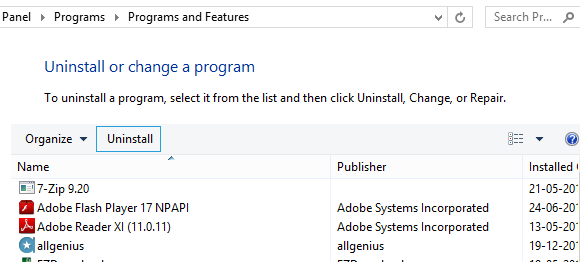 Uninstall  Unnecessary Application Programs