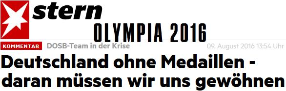 Deutschland ohne Medaillen - daran müssen wir uns gewöhnen