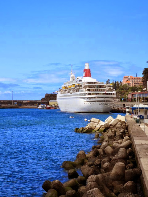 Boudicca cruise ship in Funchal port