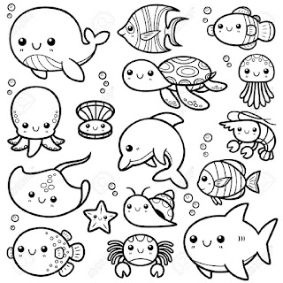 Printable Ocean Animals Coloring Pages Collection