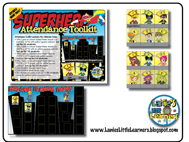 Who Came to School Today? Attendance Toolkit {Superhero Theme}