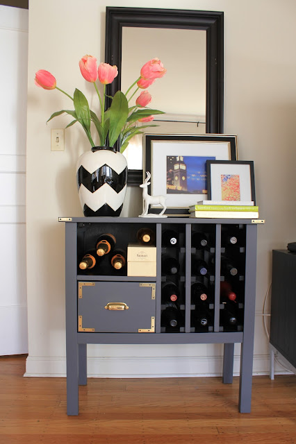 campaign style wine rack