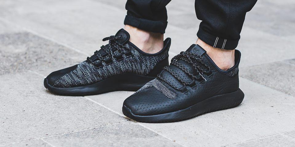 Adidas Tubular Black Leather