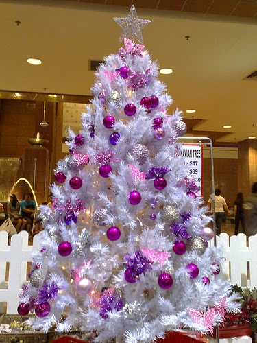 A Family Tree of Holidays - Christmas Trees: White ... Christmas Trees Decorated Purple