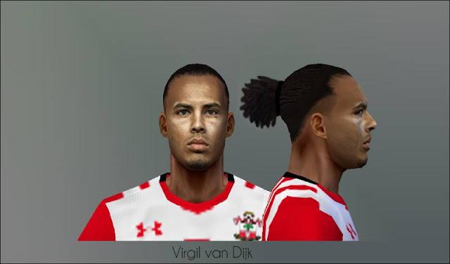Ultigamerz PES 6 Virgil Van Dijk Southampton FC Face V2