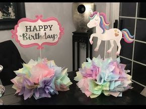 Unicorn Party Fiesta Temática de Unicornio Decoración Centros de Mesa Centerpiece