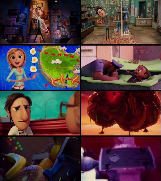 Cloudy with a Chance of Meatballs 2009 Dual Audio Hindi 720p BRRip