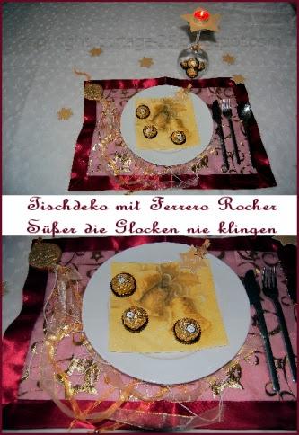 Weihnachtsdeko Ferrero.Rübes Testblog Weihnachtliche Tischdekoration Mit Ferrero Rocher