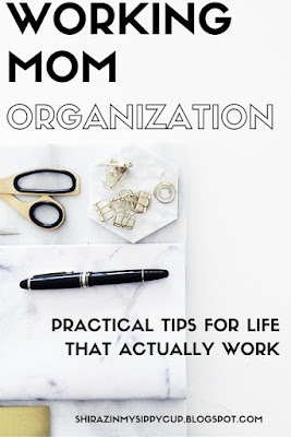 Maybe you're someone who has this organization thing down to a science. Your pantry is all neat and organized with Ikea storage containers and you have pretty little Pinterest chalkboard labels for everything. Your clothes are neatly folded and arranged in your closet and everything is sorted and placed according to color and season. Great, good for you. But what about your everyday organization? How do you go about your day with an organized schedule and to-do list? Here are my tips on helping to organize the everyday crazy as a working mom.