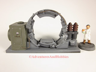 Trans Time Portal experimental 25-28mm scale lab device - front view.